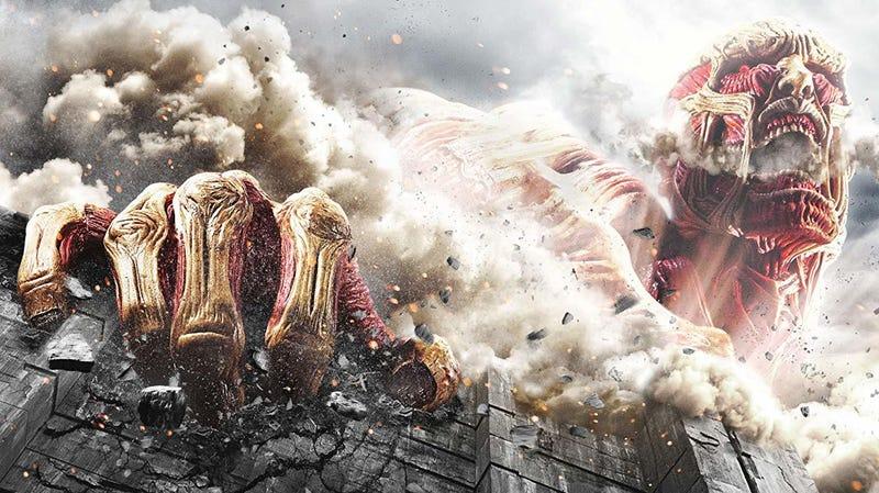 An image from Shinji Higuchi's version of Attack on Titan.