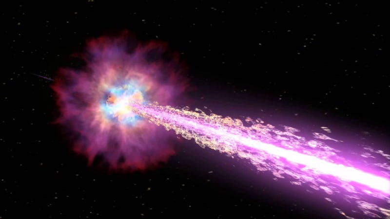 Illustration for article titled What can stop gamma ray bursts?