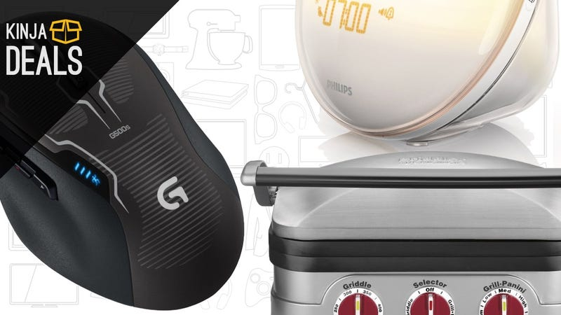Illustration for article titled Sunday's Best Deals: Gaming Peripherals, Wake-Up Light, 3-in-1 Griddler, and More