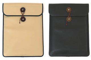 Illustration for article titled Leather Manila Macbook Air Sleeve Resurrects Old Joke In Style