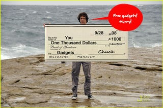 Illustration for article titled Contest Reminder: Last Chance to Win $1000 in Gadgets From NBCs 'Chuck'