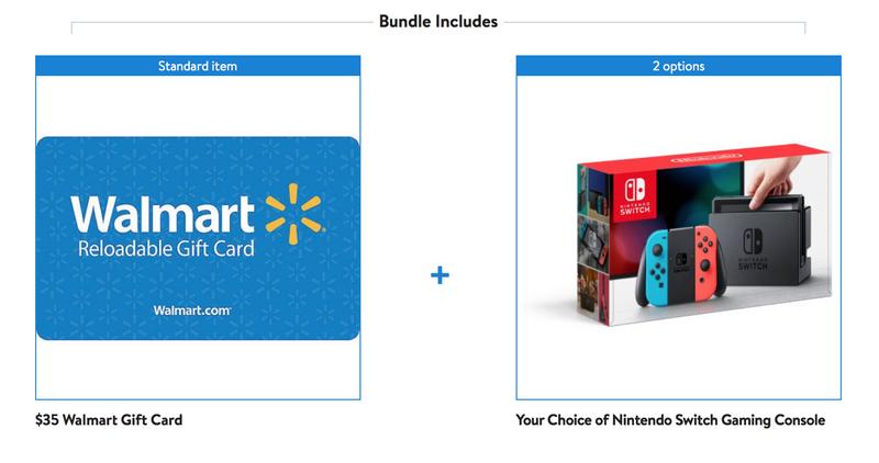 Nintendo Switch + Tarjeta regalo de $35 | $300 | | Walmart