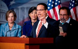 Rep. Keith Ellison with other members of the Congressional Progressive Caucus(Bill Clark/Roll Call/Getty Images)