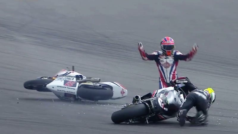"""Come on, man."" (Image: MotoGP Screengrab)"
