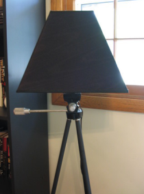 Illustration for article titled Turn a Tripod into a Floor Lamp