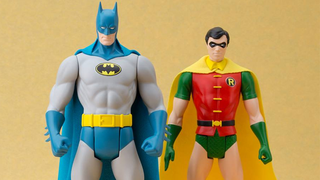 """Illustration for article titled Not Even Adding A Cape Could Make These """"Retro"""" DC Toys Better"""