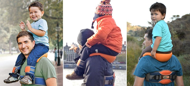 Illustration for article titled The SaddleBaby Makes Shoulder Rides Easier, Being a Parent Harder