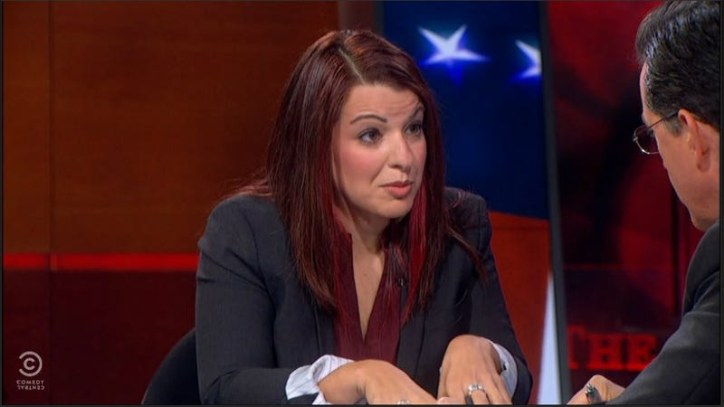 Illustration for article titled Anita Sarkeesian on Colbert: Gamergate Is 'Terrorizing Women'