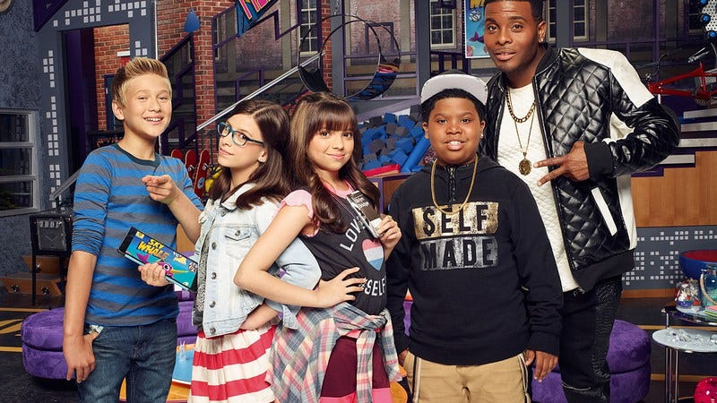 Mitchell, right, with the rest of the Game Shakers cast