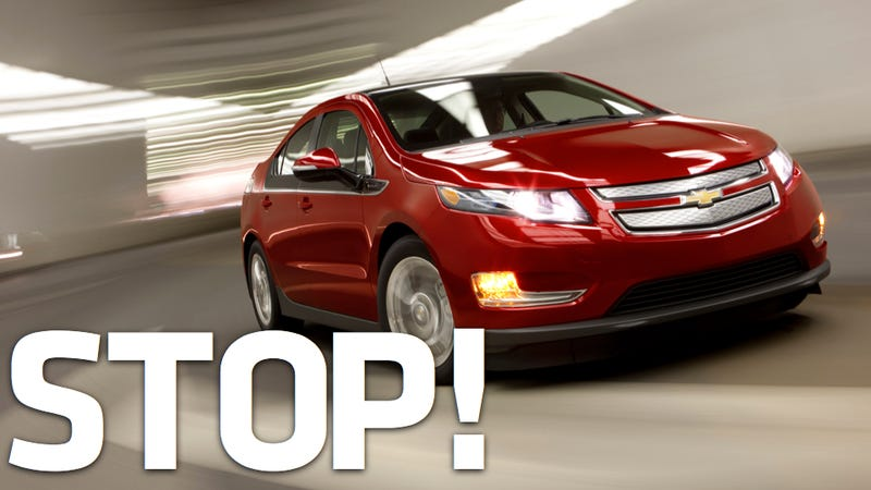 Illustration for article titled GM Halts Chevy Volt Production Because Sales Suck
