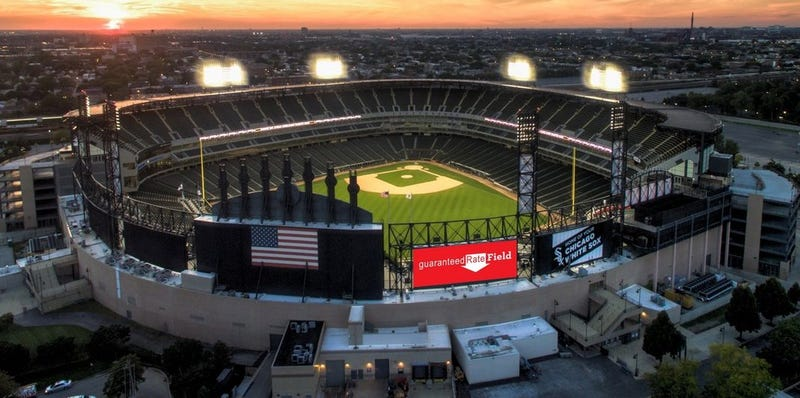 "Illustration for article titled White Sox Didn't Want Giant Downward Arrow On Their Stadium; Corporate Sponsor Said ""Too Bad"""