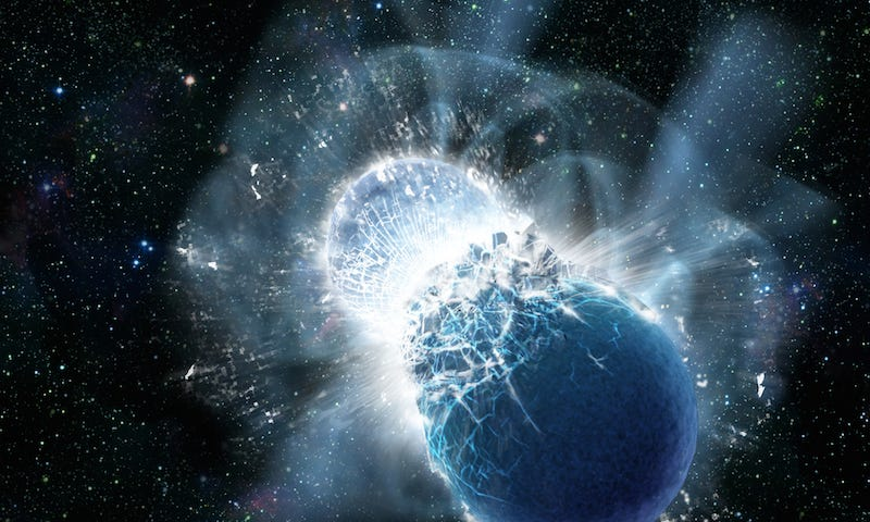 Illustration for article titled What Happens When Neutron Stars Collide?