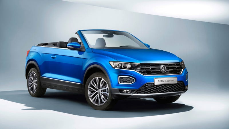 Illustration for article titled The Volkswagen T-Roc Cabriolet Is The Convertible CUV The World Didn't Know It Needed