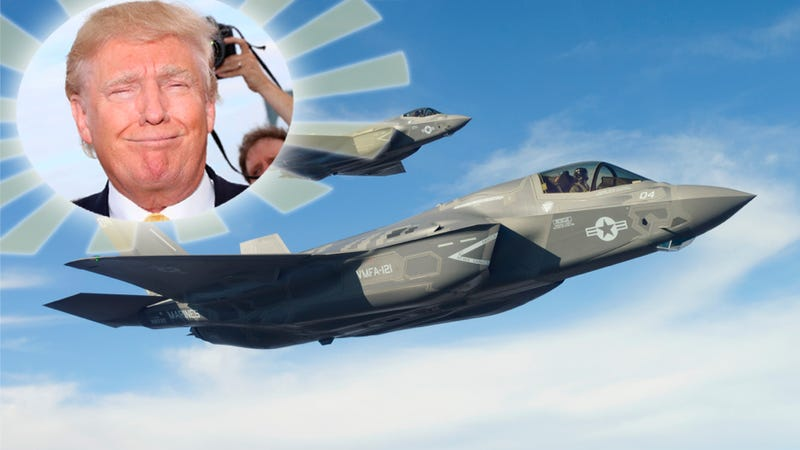 Illustration for article titled F-35 A 'Great Plane' Now, Thanks To President Trump