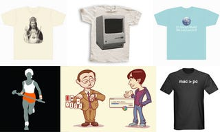 Illustration for article titled 101 Apple Fanboy Shirts Are 100 Too Many