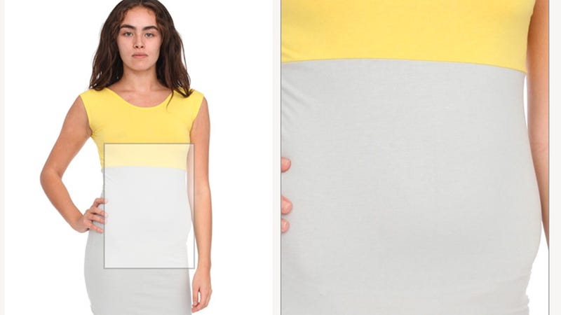 Illustration for article titled American Apparel Photoshop Results In Particularly Awkward Abdomen