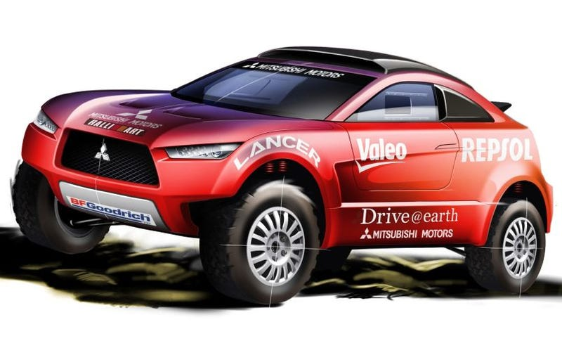 Illustration for article titled Mitsubishi To Unveil Diesel-Powered Racing Lancer For 2009 Dakar Rally