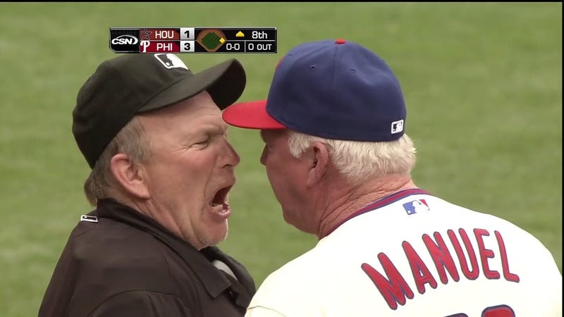 Illustration for article titled Bob Davidson's Ejection Of Charlie Manuel Today Featured More F-Bombs Than A Tarantino Film