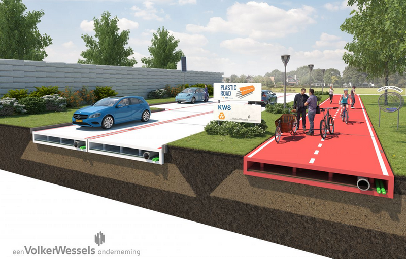 Illustration for article titled This Company Wants To Test Plastic Roads That Can Be Made In a Factory