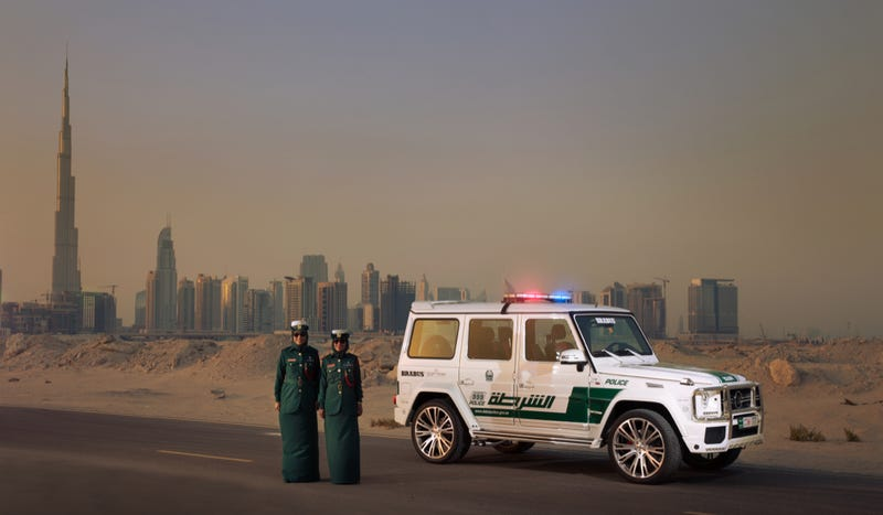 Illustration for article titled The Dubai Police Now Have A 700 Horsepower Mercedes SUV