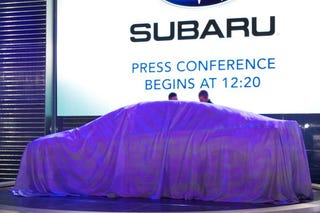 Illustration for article titled A Subaru Concept Is Under This Sheet