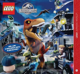 Illustration for article titled First image of the Lego Jurassic World theme leaked