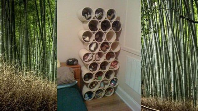 make a diy pvc shoe rack. Black Bedroom Furniture Sets. Home Design Ideas