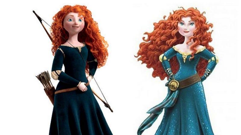 Illustration for article titled Disney Exec Defends Brave Princess Merida's Makeover