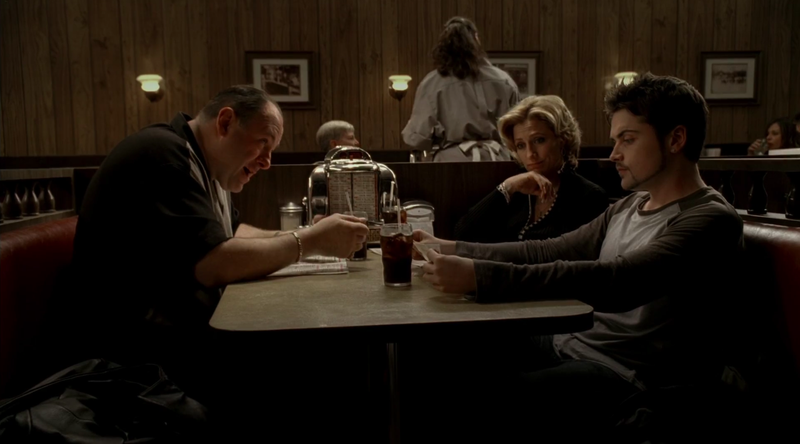 """Illustration for article titled David Chase originally had a """"death scene"""" in mind for the Sopranos finale"""