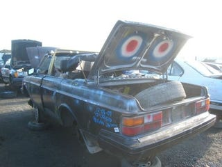 Illustration for article titled Sawzall Chop-Top Volvo 244 Doesn't Survive Winter, Meets Highly Predictable Fate