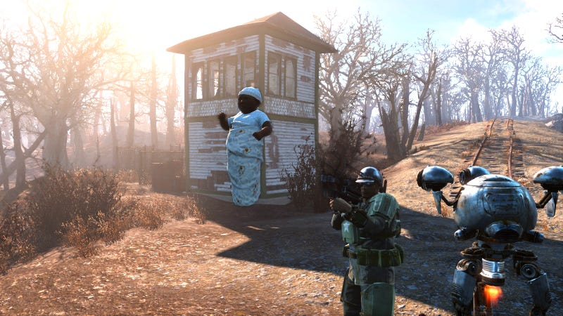 Illustration for article titled Fallout 4 Mod Replaces Mini-Nukes With Your Baby