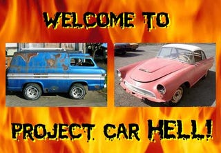 Illustration for article titled Project Car Hell: Auto Union 1000 or Shorty Corvair Van?