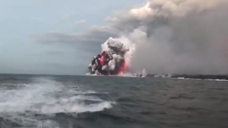Illustration for article titled Una bomba de lava del volcán Kilauea impacta sobre un barco turístico hiriendo a 23 personas