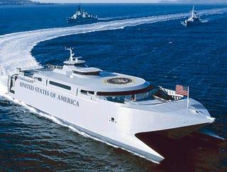Illustration for article titled Bush Arrives At Caribbean Summit Aboard Catamaran One