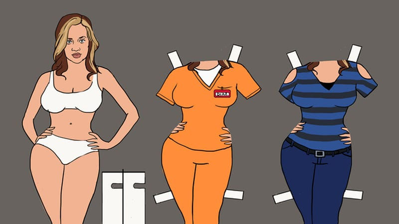Illustration for article titled Orange Is the New Black Paper Dolls for Your Litchfield Diorama