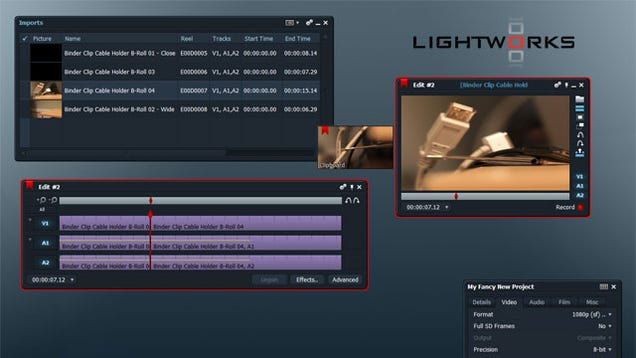 Lightworks Is A Speedy Professional Level And Free Open