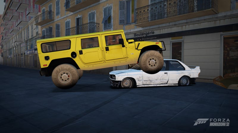 Illustration for article titled recreating Doug Demuro's hummer in Forza