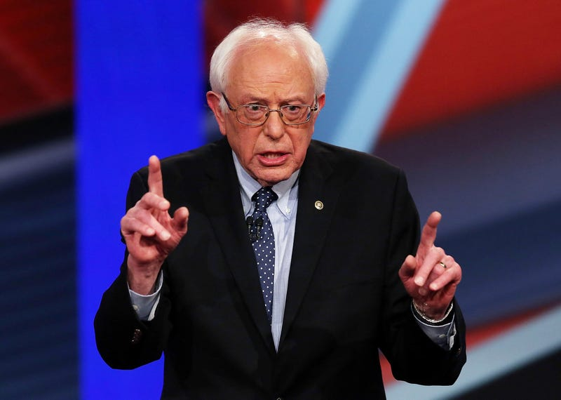 Democratic presidential candidate Sen. Bernie Sanders speaks during a CNN and New Hampshire Democratic Party-hosted Democratic Presidential Town Hall on Feb. 3, 2016, in Derry, N.H. (Joe Raedle/Getty Images)