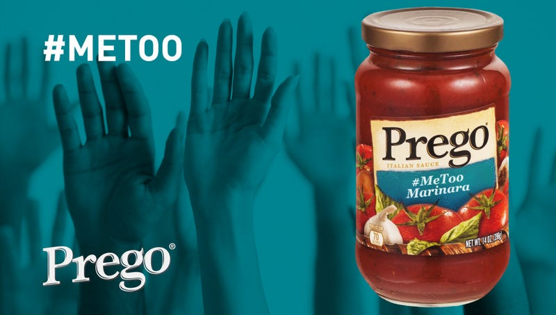 Illustration for article titled Prego Marketing New Marinara As 'The Premiere Sauce For The #MeToo Moment'
