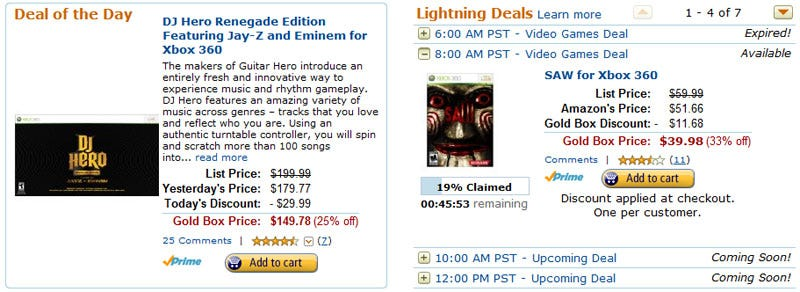 Illustration for article titled It's Amazon Gold Box Game Deals Day Again