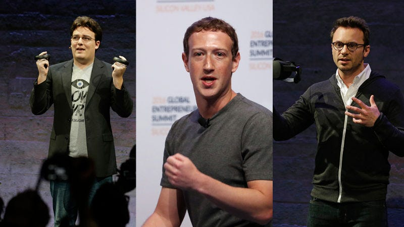 Palmer Luckey (AP), Mark Zuckerberg (Getty), Brendan Iribe (AP)