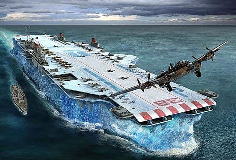 Habakkuk, el proyecto secreto del gobierno británico para crear un gigantesco portaaviones hecho de hielo
