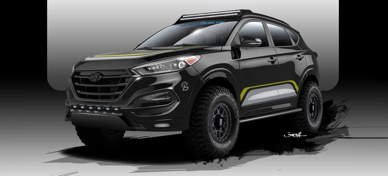 Illustration for article titled The Future Of Off-Road: Crossovers With More Headlights,Apparently