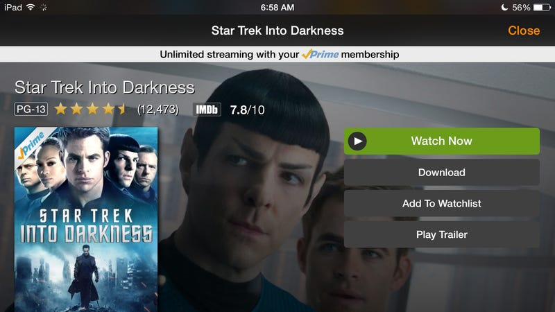 Illustration for article titled Amazon Prime Video Gets Offline Playback on iOS and Android