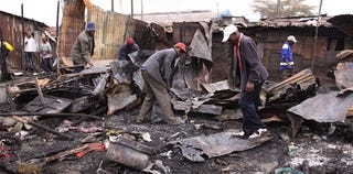 An oil-pipeline explosion in Nairobi kills 80. (Google)