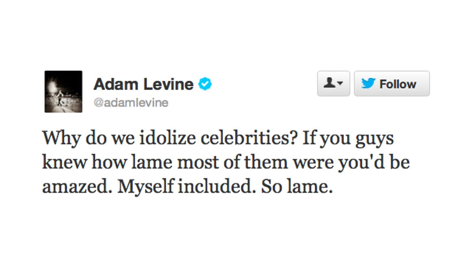 idolizing celebrities