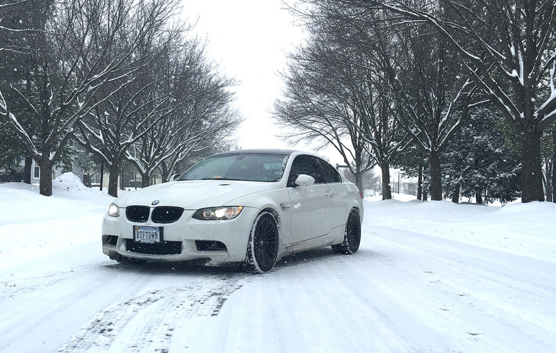 Illustration for article titled Quick Snap of Josh's M3 in the Snow