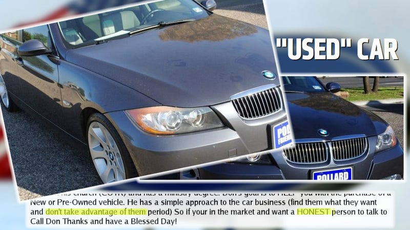 Illustration for article titled Texas Dealership Selling BMW That Someone Appears To Have Just Had Sex On