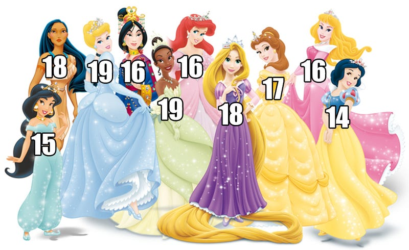 Illustration for article titled Actual list of Disney Princess ages will make you feel like a monster