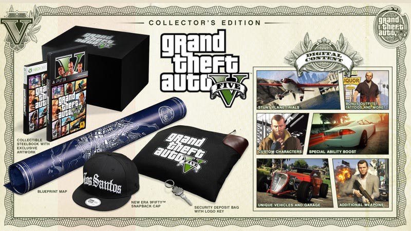 Illustration for article titled Get A Load Of Grand Theft Auto V's $150 Collector's Edition